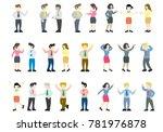 flat style modern business... | Shutterstock .eps vector #781976878