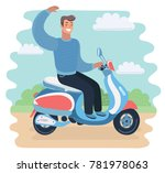 vector cartoon funny... | Shutterstock .eps vector #781978063