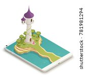 tall fairy tale tower and... | Shutterstock .eps vector #781981294