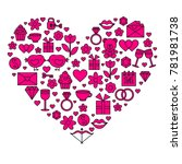 heart card for valentines day.... | Shutterstock .eps vector #781981738