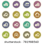 house type vector icons for... | Shutterstock .eps vector #781988560