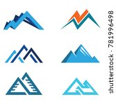 abstract hill and mountain sign ... | Shutterstock .eps vector #781996498