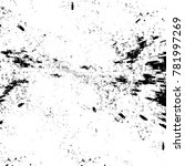 grunge black and white pattern. ... | Shutterstock . vector #781997269