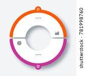 infographics template 2 options ... | Shutterstock .eps vector #781998760