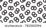 pretzel seamless pattern vector ... | Shutterstock .eps vector #782002096