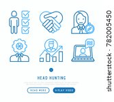 head hunting thin line icons... | Shutterstock .eps vector #782005450
