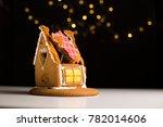 Broken Eaten Gingerbread House...