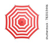 red umbrella in flat style...   Shutterstock .eps vector #782015446