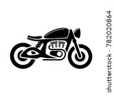 classic cafe racer bike icon... | Shutterstock .eps vector #782020864
