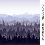 vector illustration of pine... | Shutterstock .eps vector #782024140