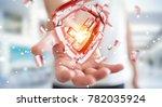 businessman on blurred... | Shutterstock . vector #782035924