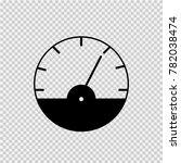 tachometer vector icon eps 10.... | Shutterstock .eps vector #782038474