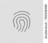 fingerprint vector icon eps 10. ... | Shutterstock .eps vector #782038480
