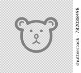 teddy bear head vector icon eps ... | Shutterstock .eps vector #782038498