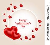 happy valentine's day banner.... | Shutterstock . vector #782039674