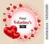 happy valentine's day banner.... | Shutterstock . vector #782039680
