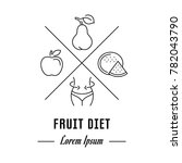 vector logo fruit diet. hipster ...