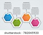hexagon options infographics... | Shutterstock .eps vector #782045920