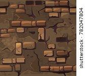 cartoon seamless pattern... | Shutterstock .eps vector #782047804