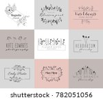 vector trendy hand drawn beauty ... | Shutterstock .eps vector #782051056