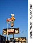 Small photo of AMARILLO, TEXAS - JULY 20: Big Texan Steak Ranch, famous steakhouse restaurant and motel located in Amarillo, Texas on July 20, 2017.