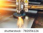 cnc programmable laser plasma... | Shutterstock . vector #782056126