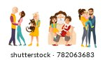hugging set with   loving... | Shutterstock .eps vector #782063683