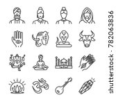 india icon set. included the... | Shutterstock .eps vector #782063836