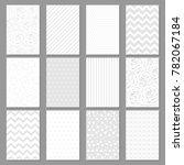 set of twelve vector templates... | Shutterstock .eps vector #782067184