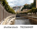 karlovy vary channel view | Shutterstock . vector #782068489