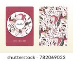 cover design with floral... | Shutterstock .eps vector #782069023