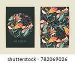 cover design with floral... | Shutterstock .eps vector #782069026