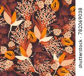 floral seamless pattern. hand... | Shutterstock .eps vector #782069038