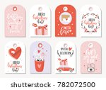 valentines day gift tags | Shutterstock .eps vector #782072500