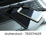 modern technology  gadgets ...   Shutterstock . vector #782074639
