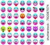 face emotions. facial... | Shutterstock .eps vector #782087074