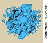 social media isolated artistic... | Shutterstock .eps vector #782090584