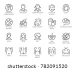 cosmetology line icons. big set ... | Shutterstock .eps vector #782091520