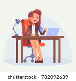 business woman or office clerk... | Shutterstock .eps vector #782092639