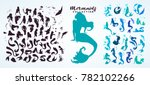 set  ink sketch collection of... | Shutterstock .eps vector #782102266