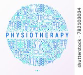 physiotherapy concept in circle ...   Shutterstock .eps vector #782103034