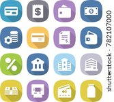 flat vector icon set   card... | Shutterstock .eps vector #782107000