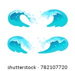 vector collection of flat blue... | Shutterstock .eps vector #782107720