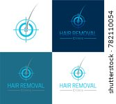 hair removal logo and icon  ...   Shutterstock .eps vector #782110054