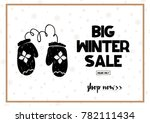 big winter sale coupon with... | Shutterstock .eps vector #782111434