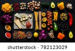 different fresh ingredients for ... | Shutterstock . vector #782123029