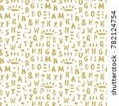 vector grunge alphabet seamless ...   Shutterstock .eps vector #782124754