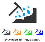 rock mining hammer icon. vector ... | Shutterstock .eps vector #782132893