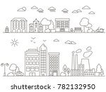 city and town illustration in... | Shutterstock . vector #782132950