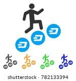 man climb dash coins icon.... | Shutterstock .eps vector #782133394